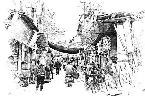 三坊七巷手绘图