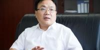 福建投资集团副总经理林崇接受本网记者专访。李南轩 摄 - 福建新闻