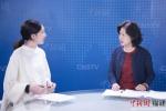 图为尤玉仙在中新网(福建)演播厅接受记者专访。谢帝谣 摄 - 福建新闻