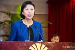 雷春美表示,希望全省各级职教社进一步增强使命感、责任感和紧迫感,发挥桥梁作用,为建设新福建、实现中国梦作出新的更大贡献。李南轩 摄 - 福建新闻