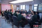 1、11日下午,武警第二机动总队授匾仪式在福建省委军民融合办举行。谢帝谣 摄 - 福建新闻