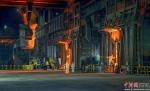 福建三钢生产场景。洪碧云摄 - 福建新闻