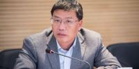 张志彤表示要通过技术创新,提升企业的核心竞争力,培育优势竞争力,为船政重铸辉煌而努力。李南轩 摄 - 福建新闻