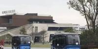图一为无人驾驶巴士在福州飞凤山奥体公园测试。福汽集团供图 - 福建新闻